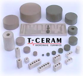 Ceramic resonators substrates and filters